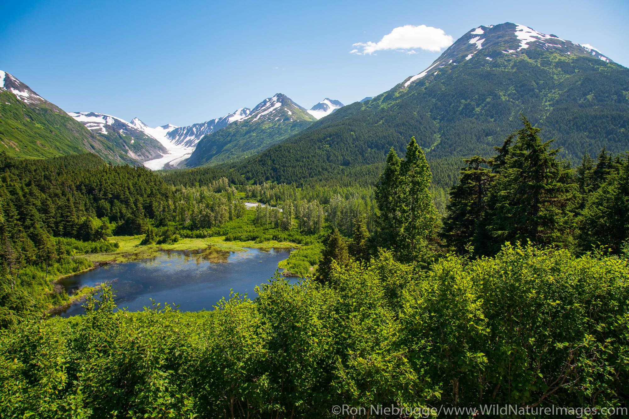 Alaska Railroad Glacier Discovery train trip,  Chugach National Forest, Alaska.