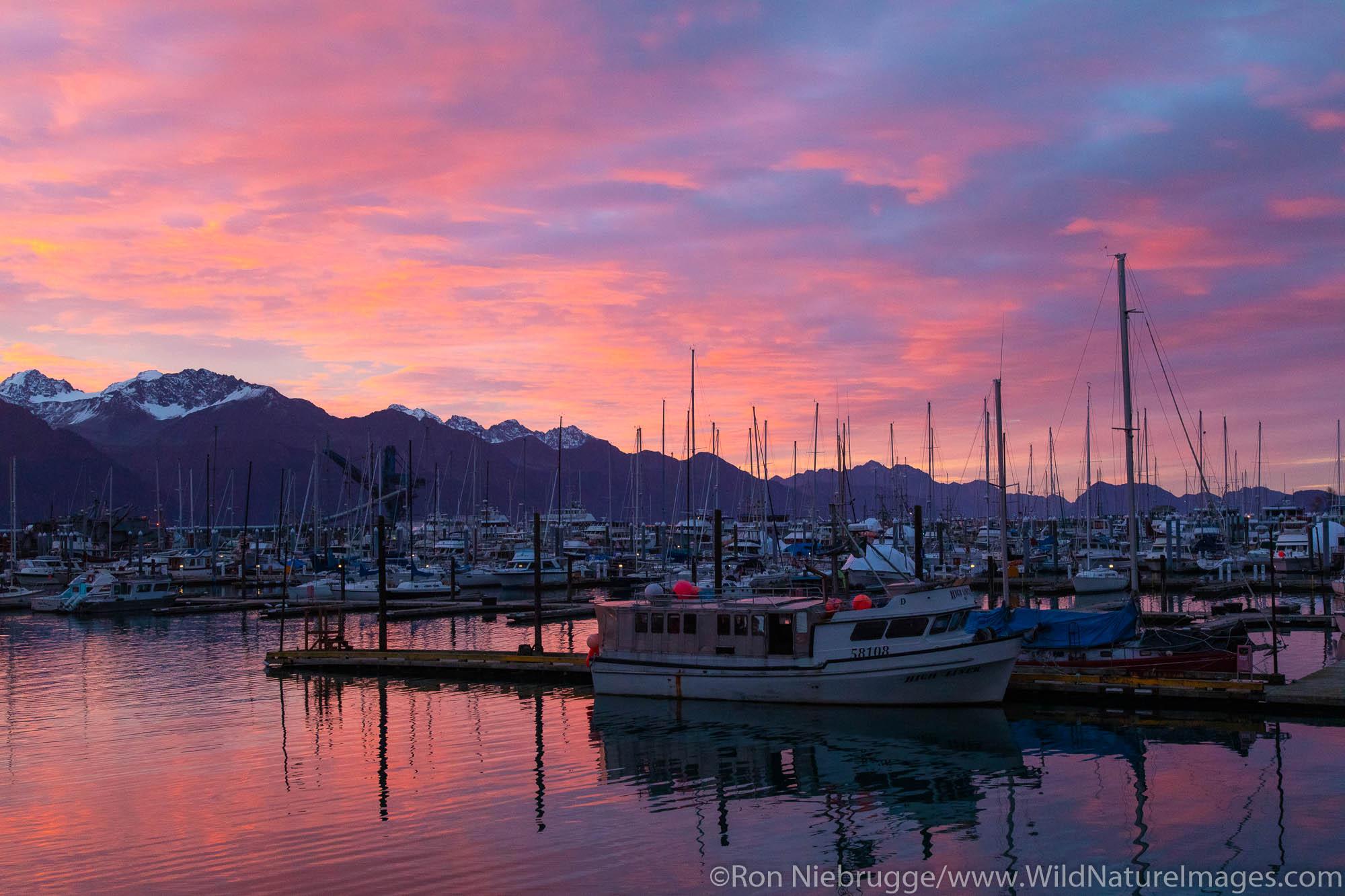 Seward Small Boat Harbor, Seward, Alaska.