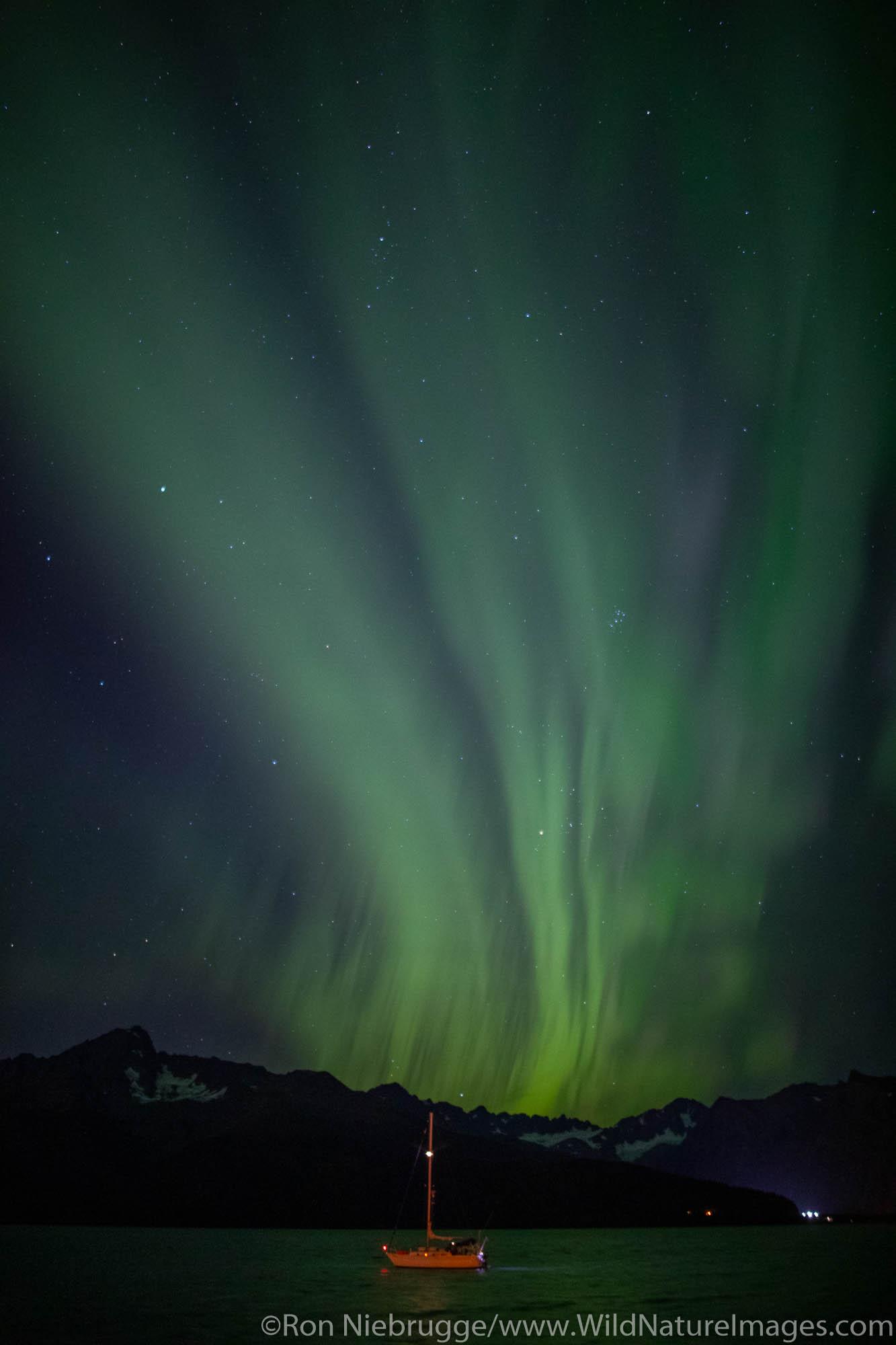 Northern Lights, also known as Aurora borealis, Seward, Alaska