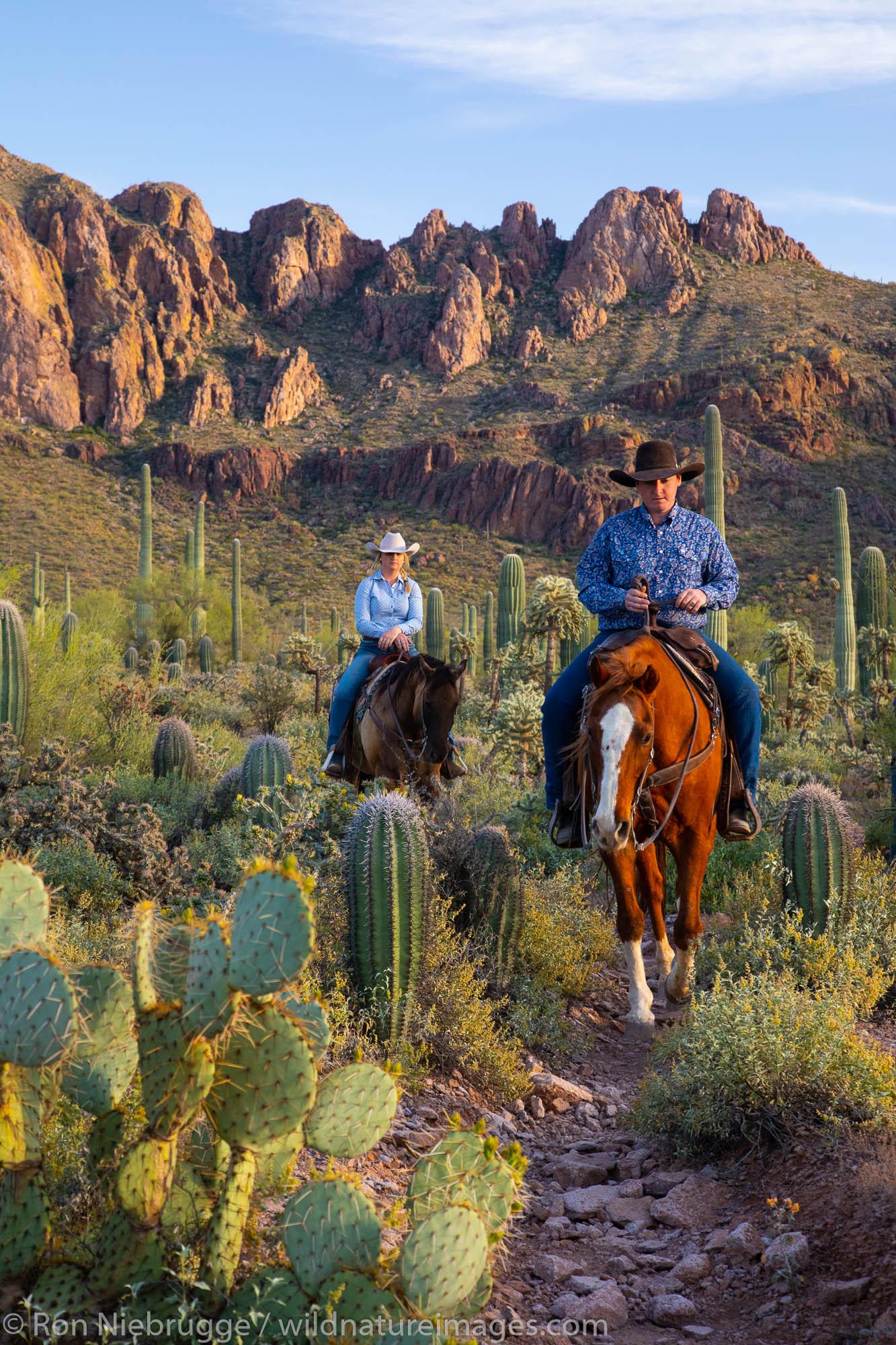 Horseback riding, White Stallion Ranch, Tucson, Arizona.