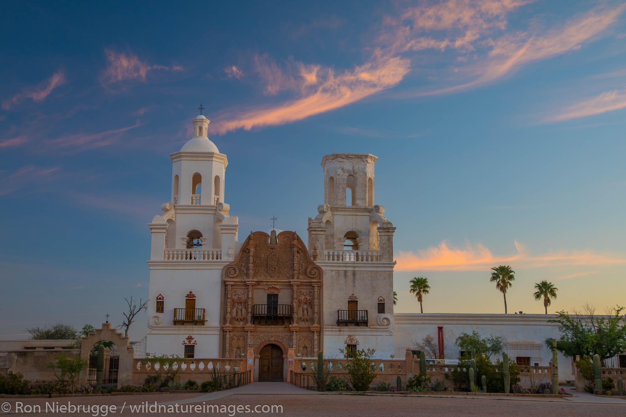 Mission San Xavier del Bac, Tucson, Arizona.