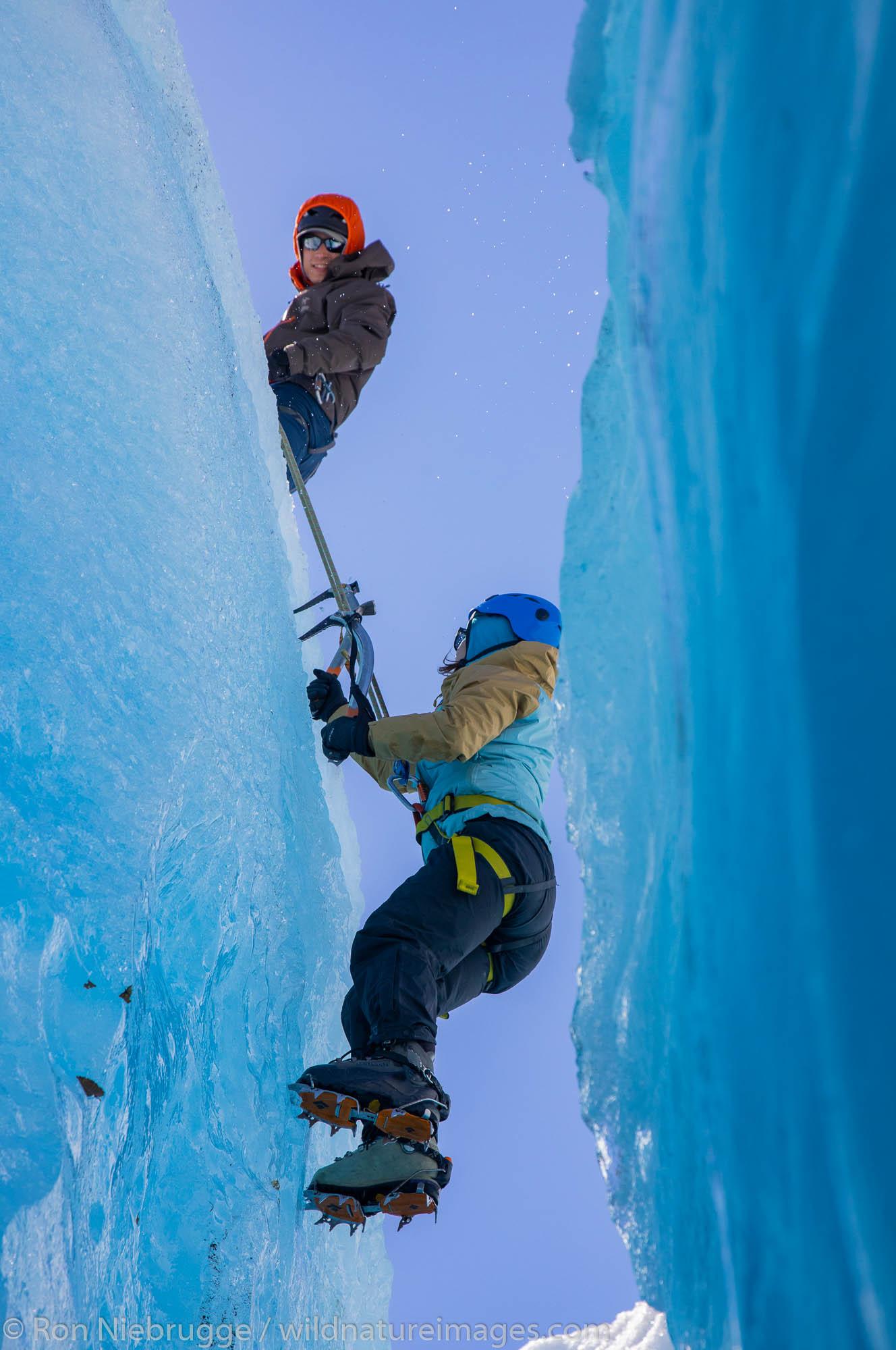 exit glacier, ice climbing, photo