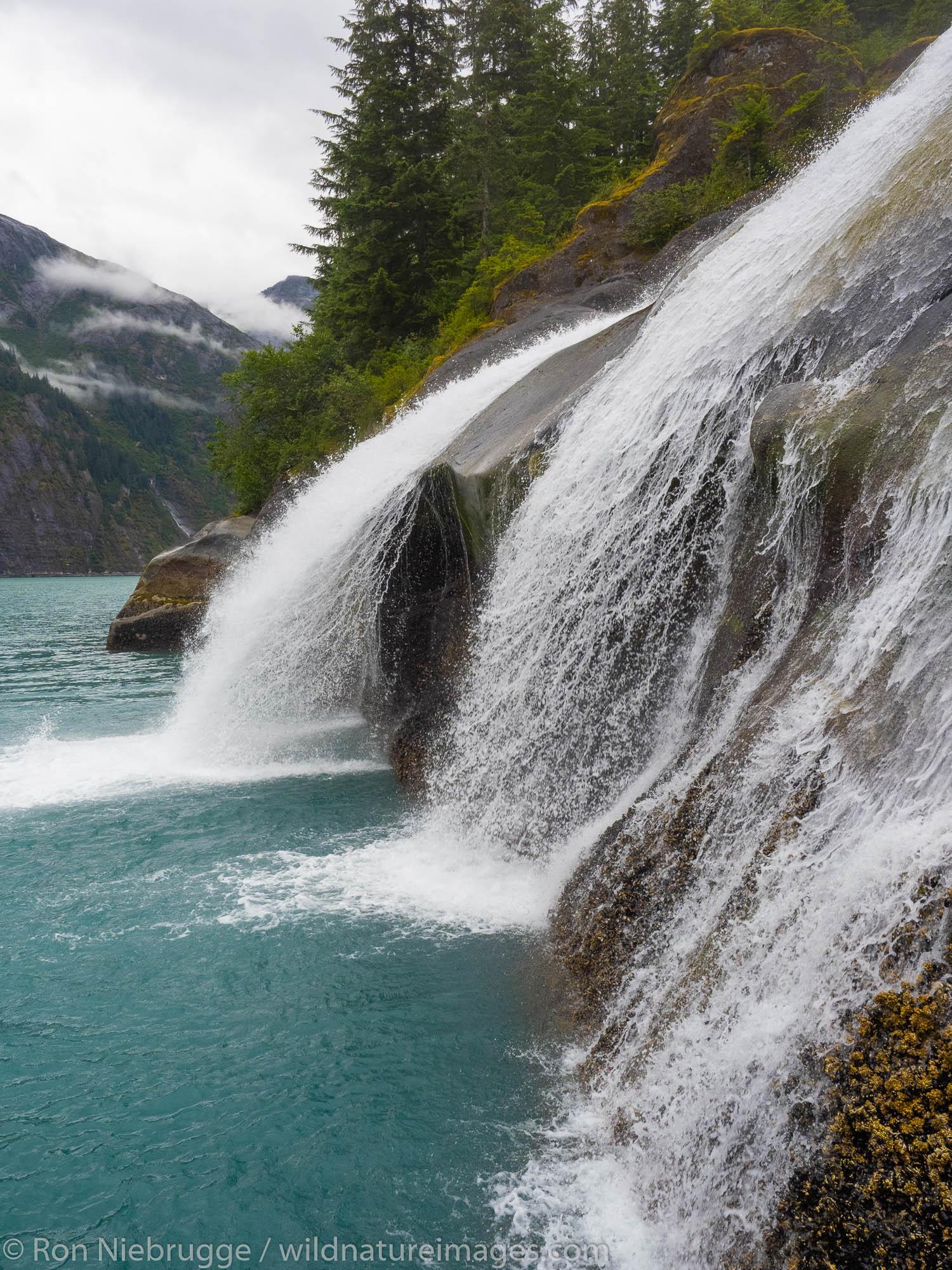 Waterfall in Tracy Arm.  Southeast, Alaska