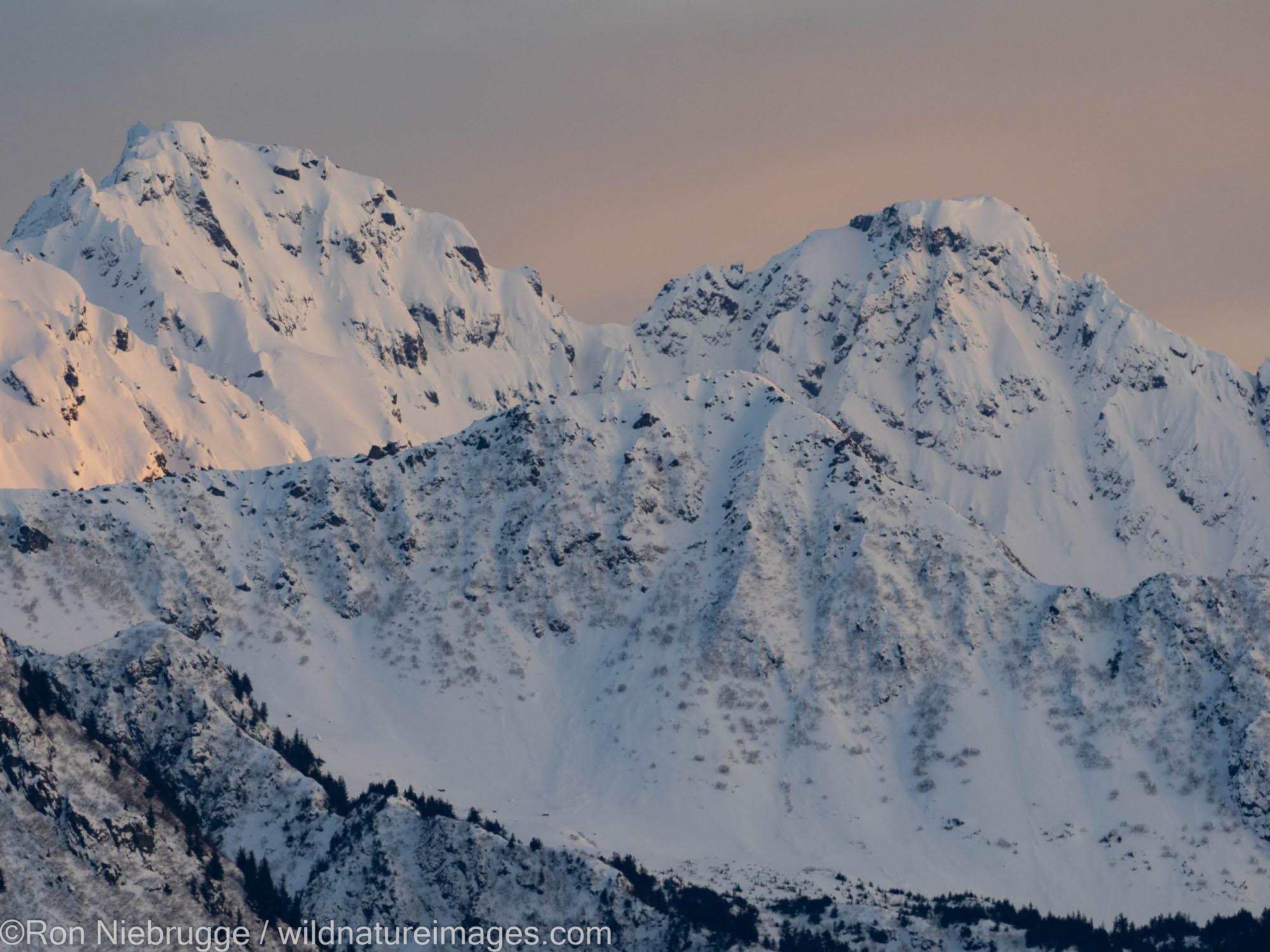 Mountains surrounding Resurrection Bay, Seward, Alaska.