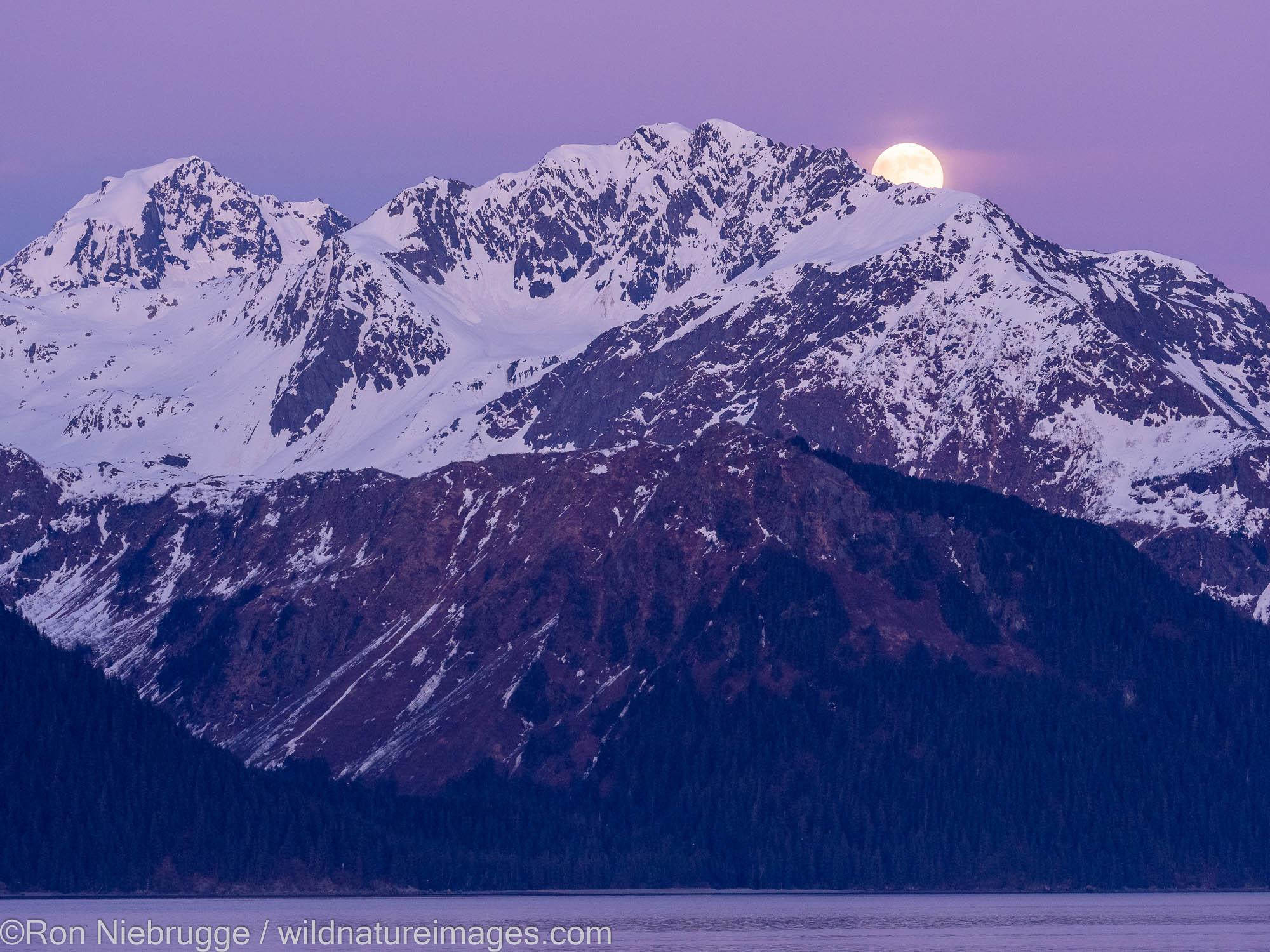 Mount Alice Moonrise, Resurrection Mountains, Seward, Alaska