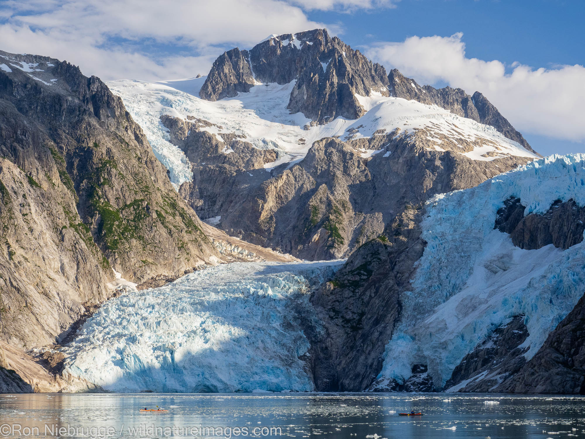 Kayaking, Northwestern Fjord, Kenai Fjords National Park, near Seward, Alaska.