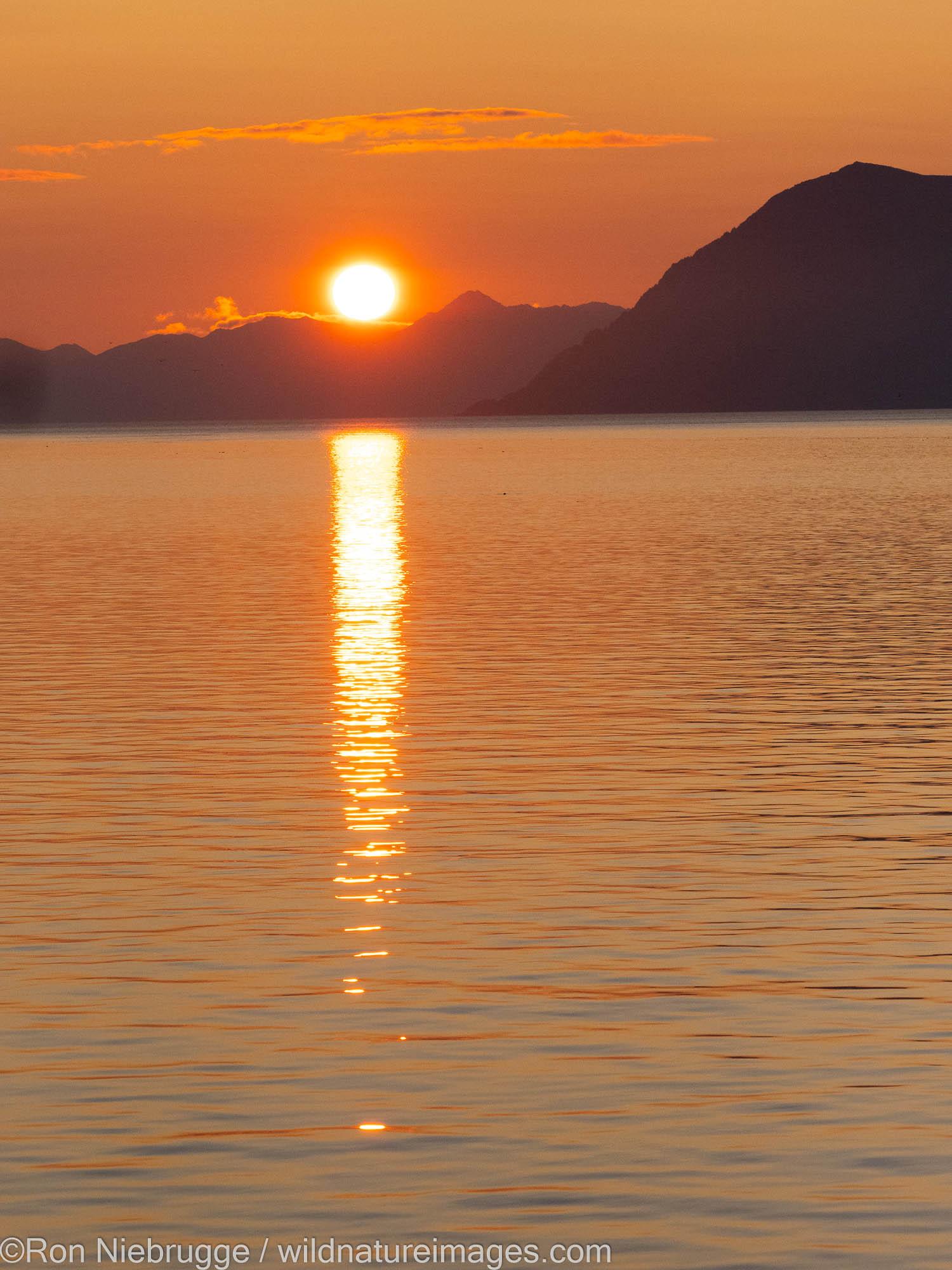 Sunset, Kodiak, Alaska.