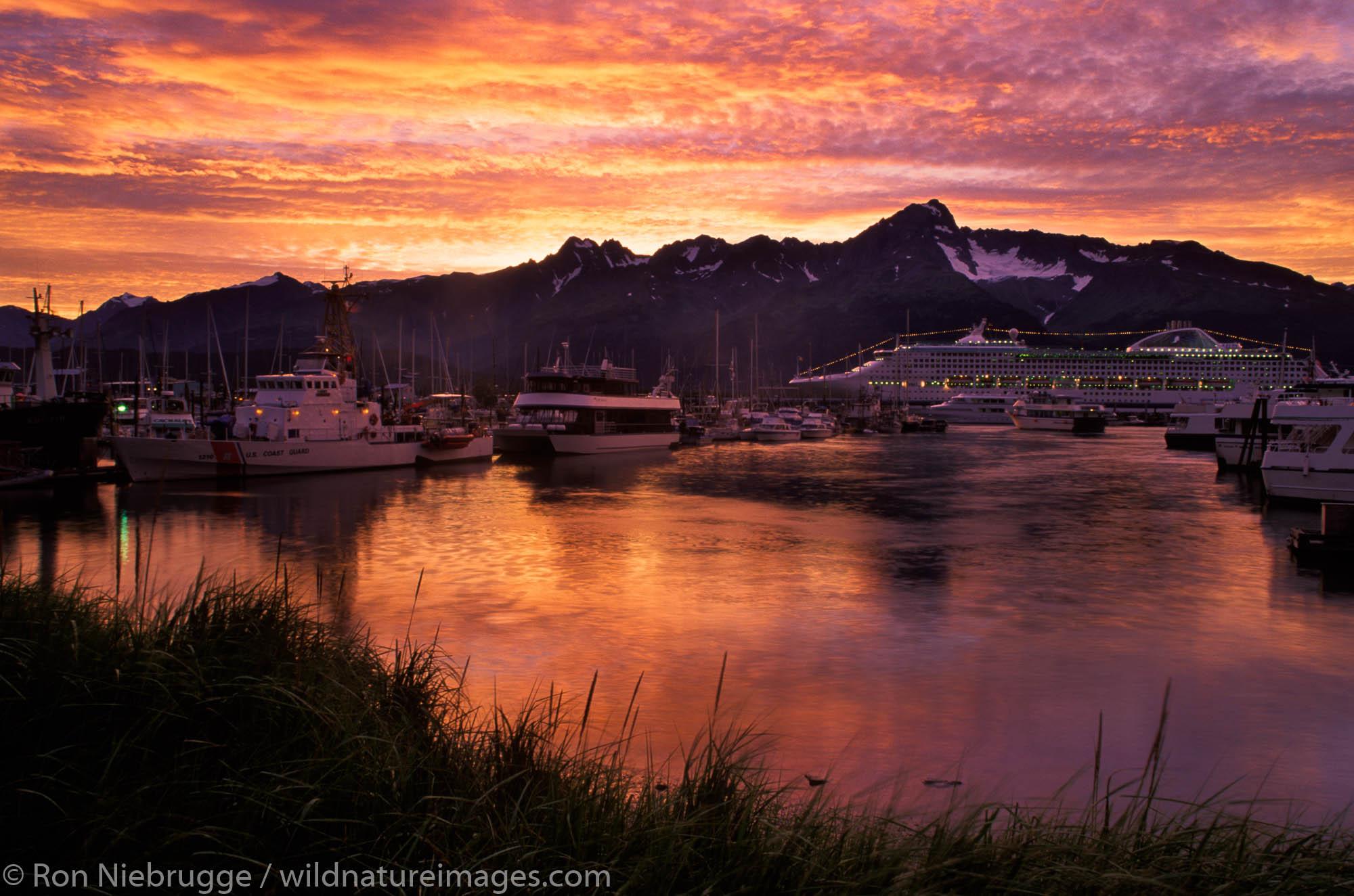 Sunrise over Boat Harbor, Seward, Alaska