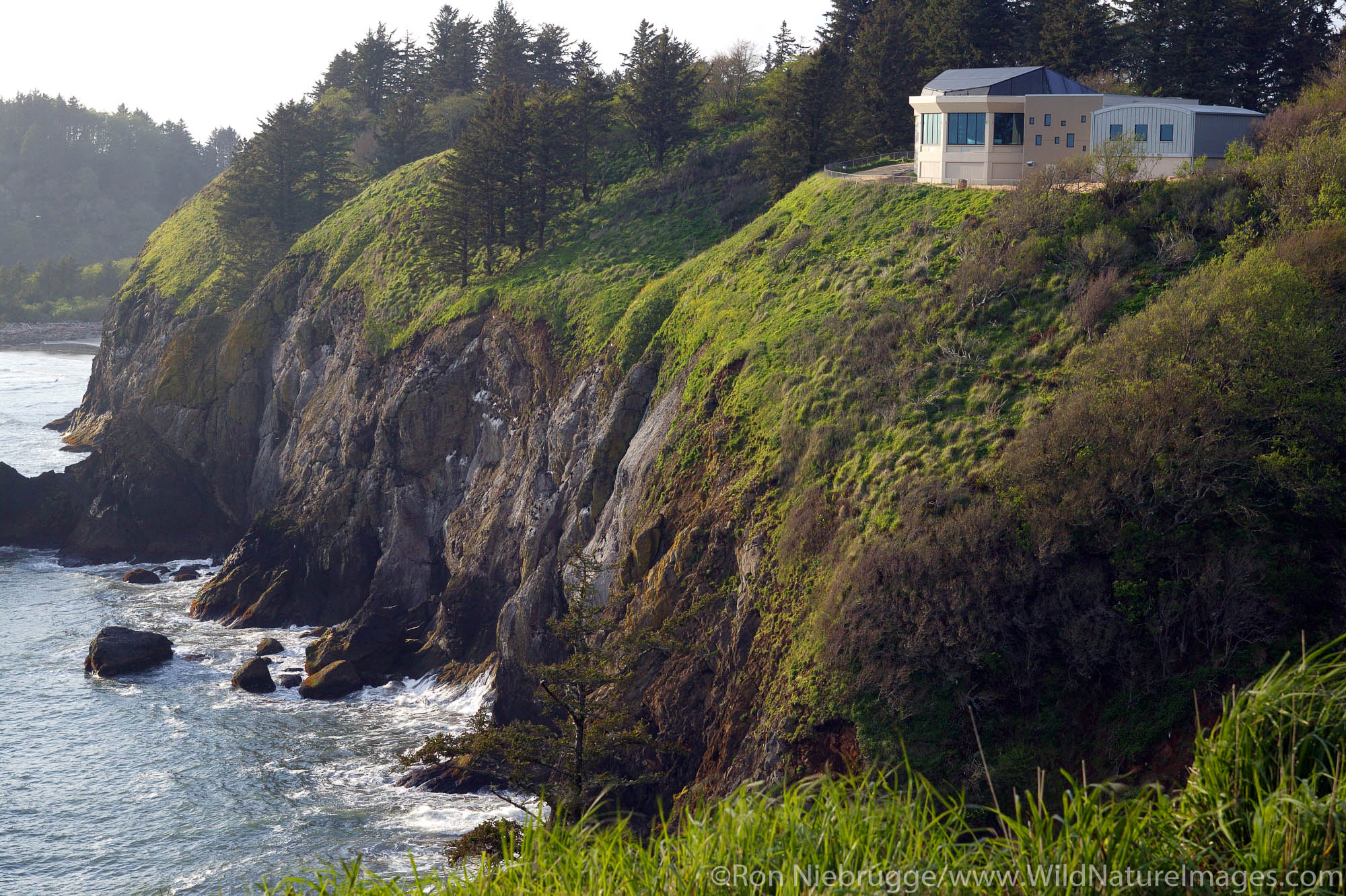 Lewis & Clark Interpretive Center, at the mouth of the Columbia River, Cape Disappointment State Park, Washington.