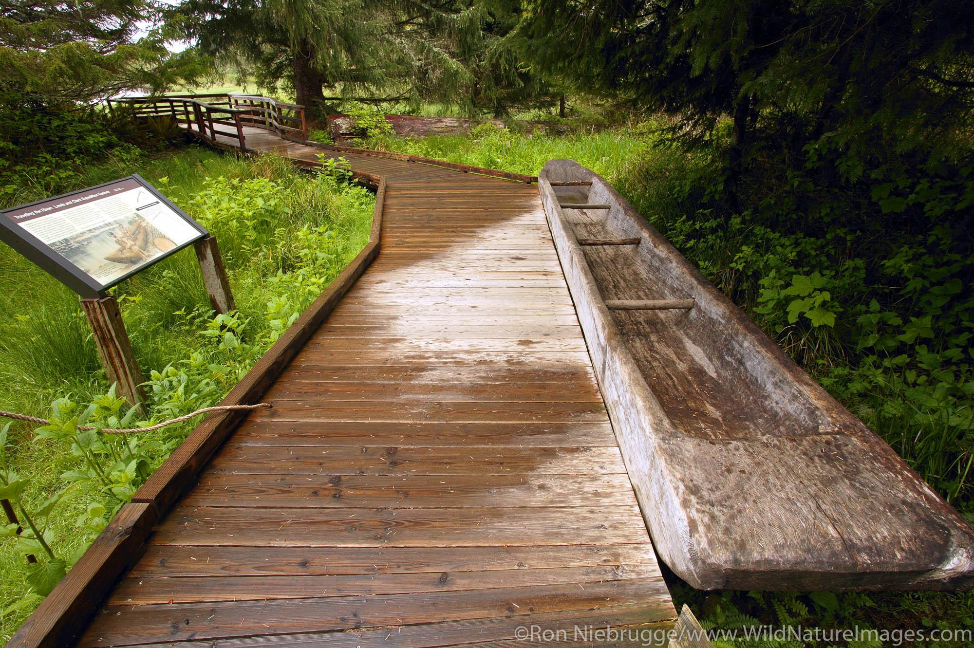 Canoe landing, Fort Clatsop National Memorial, near Astoria, Oregon.