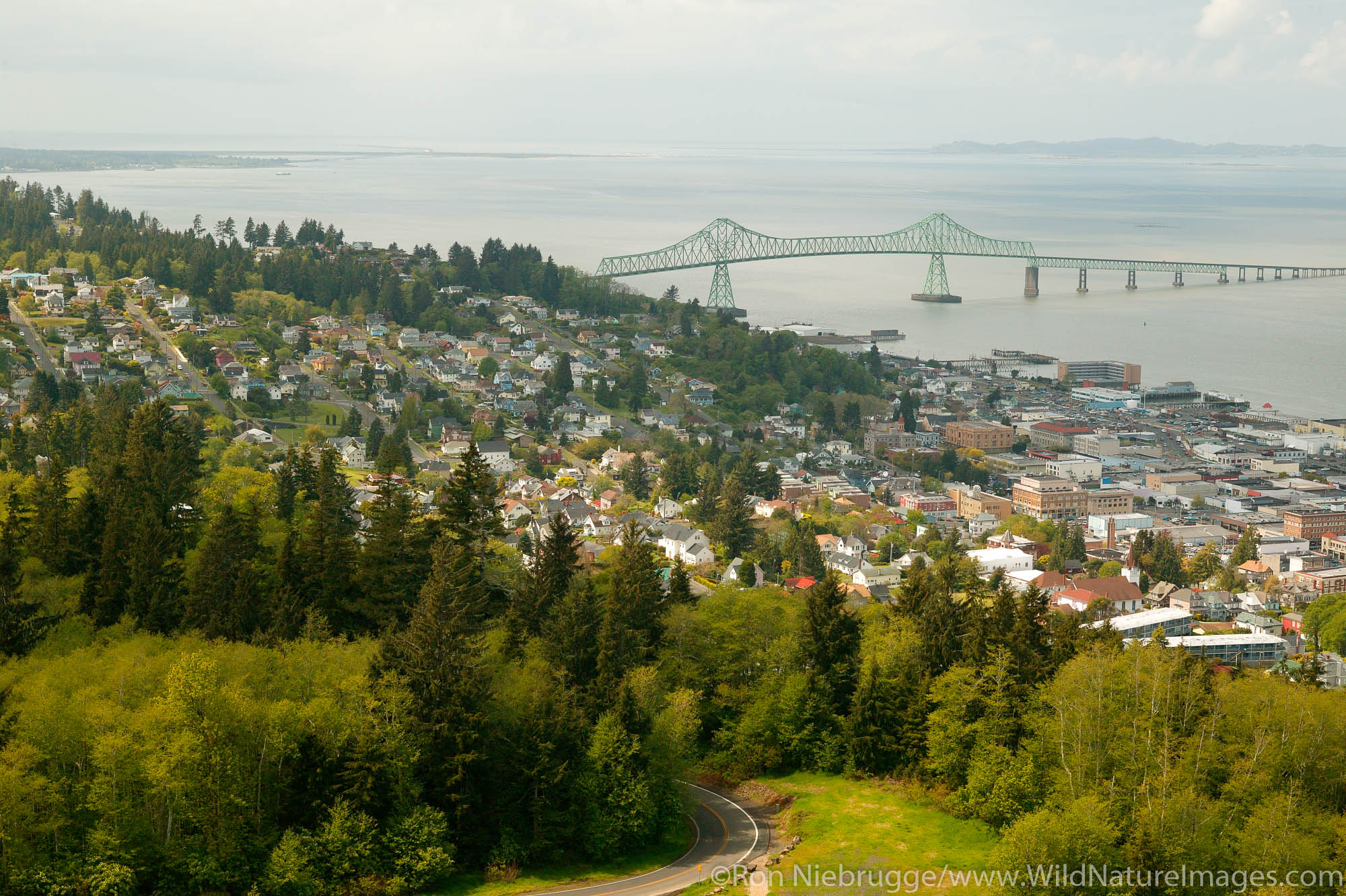 View from Astoria Column, Astoria, Oregon.