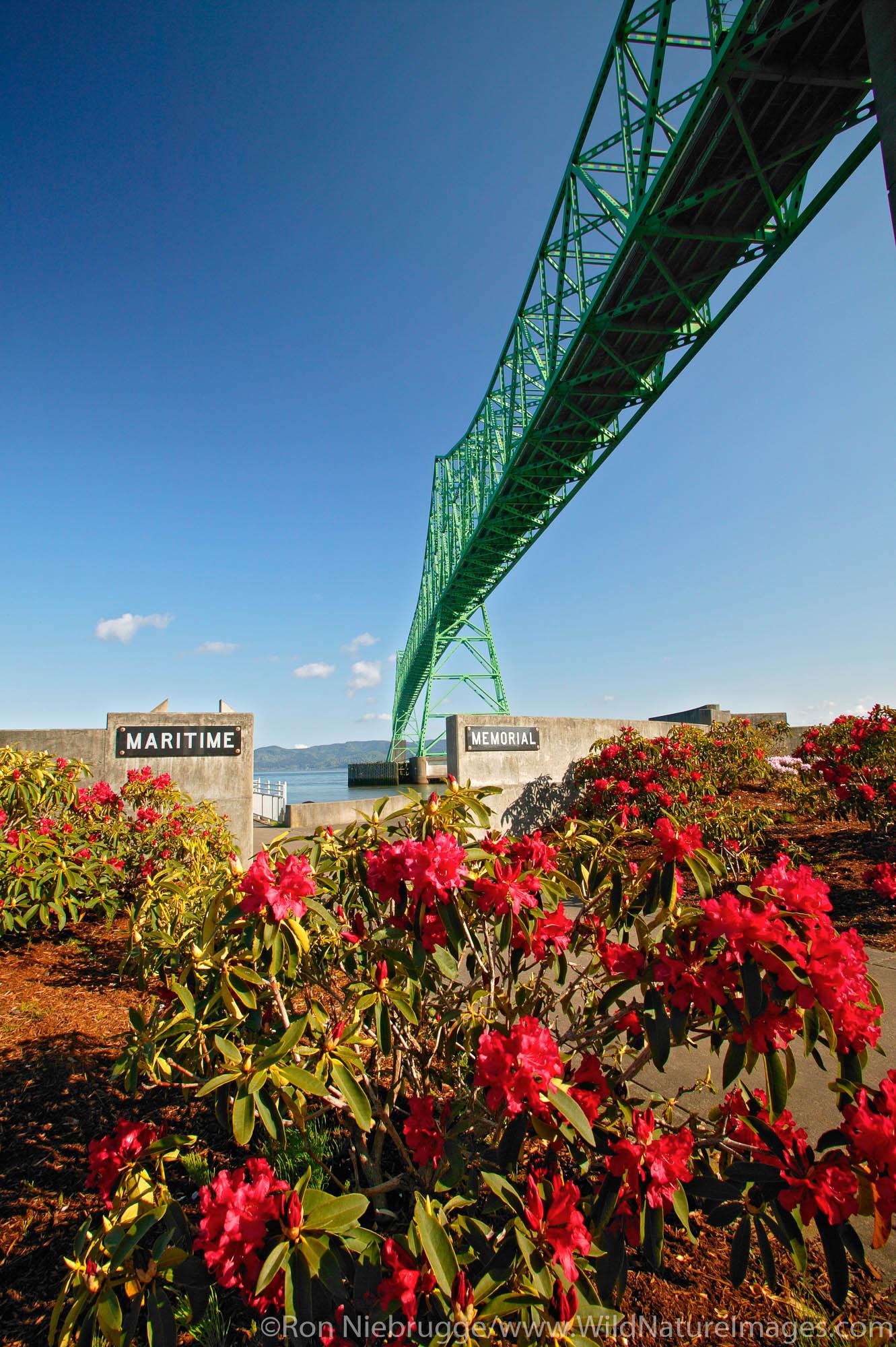 Astoria Bridge over the Columbia River from the Maritime Memorial, Astoria, Washington.