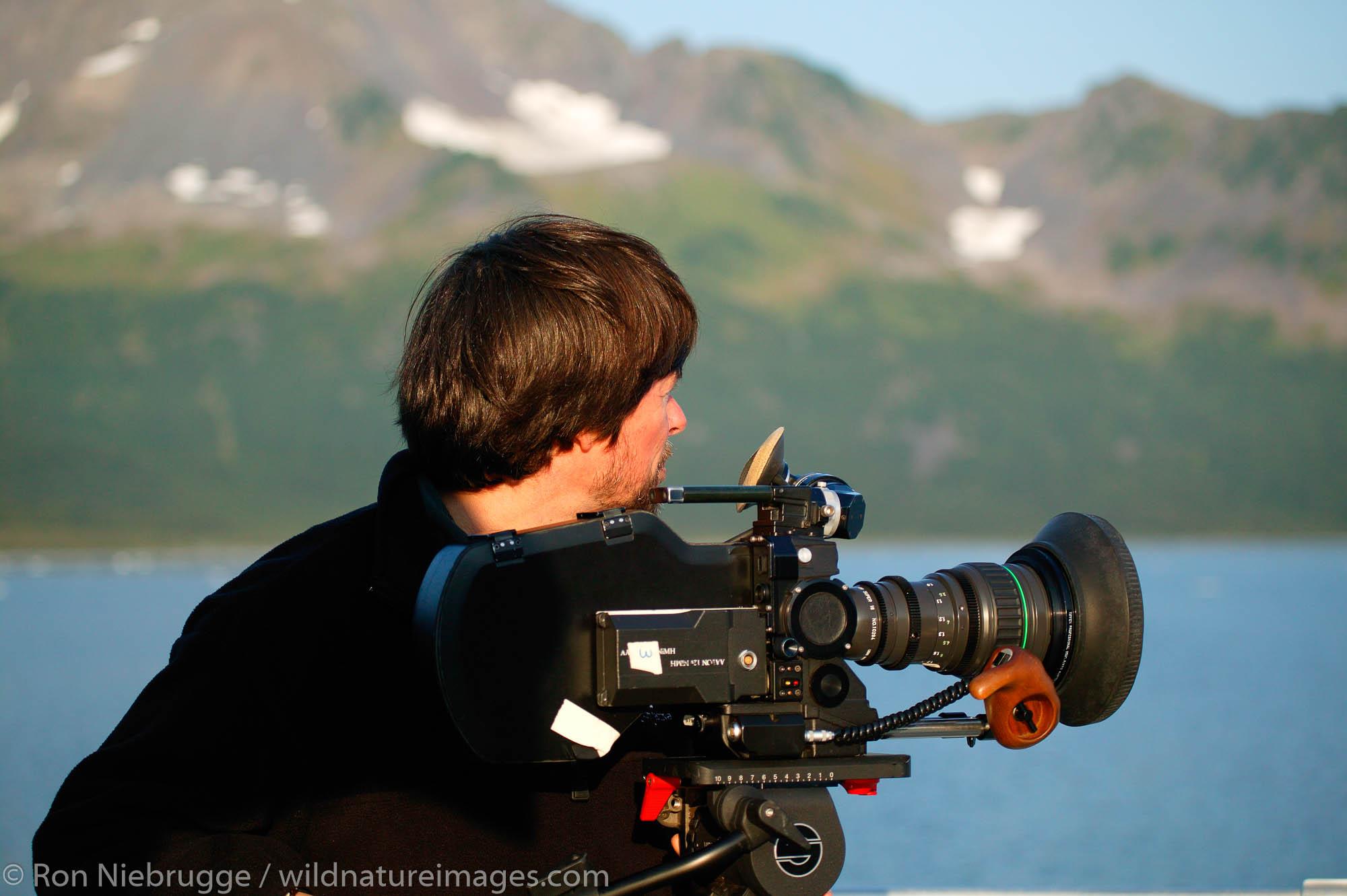 Ken Burns in Aialik Bay, Kenai Fjords National Park, Alaska.