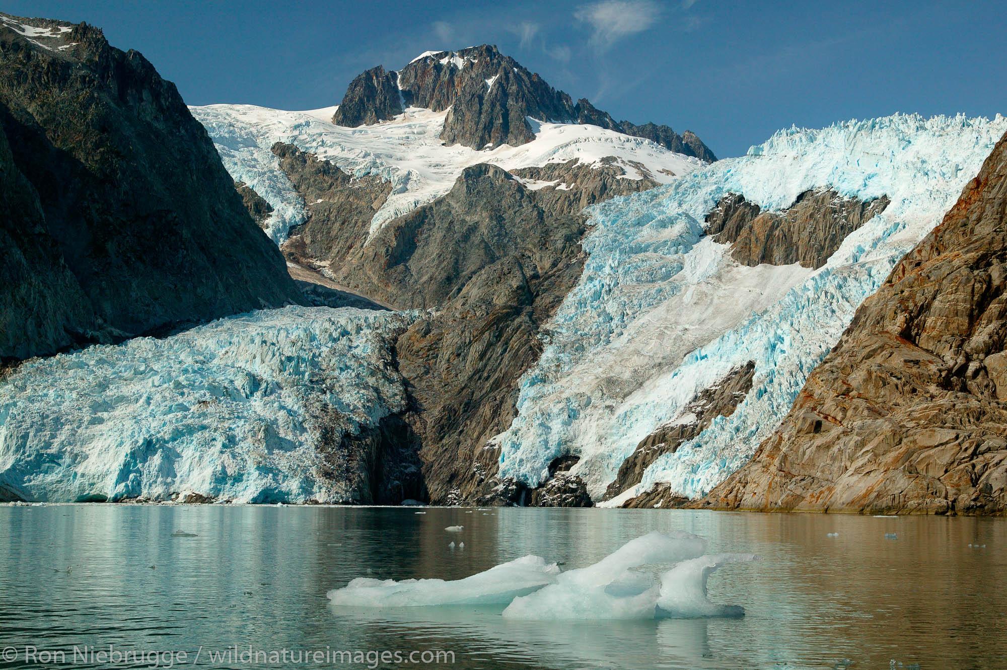 Northwestern Glacier and Fjord, Kenai Fjords National Park, Alaska.