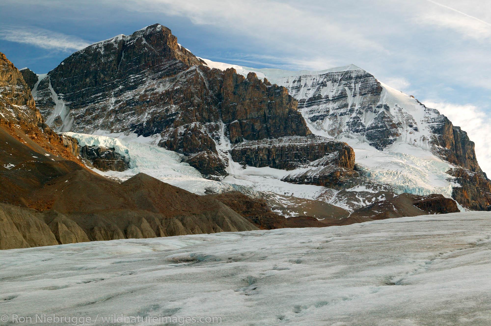 Athabasca Glacier near the Incfield Centre, Jasper National Park, Alberta, Canada.