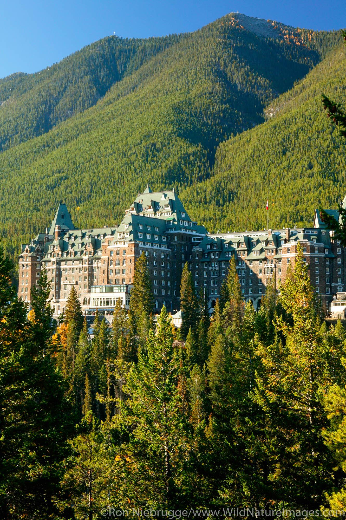 Banff Springs Hotel, Banff, Banff National Park, Alberta, Canada.