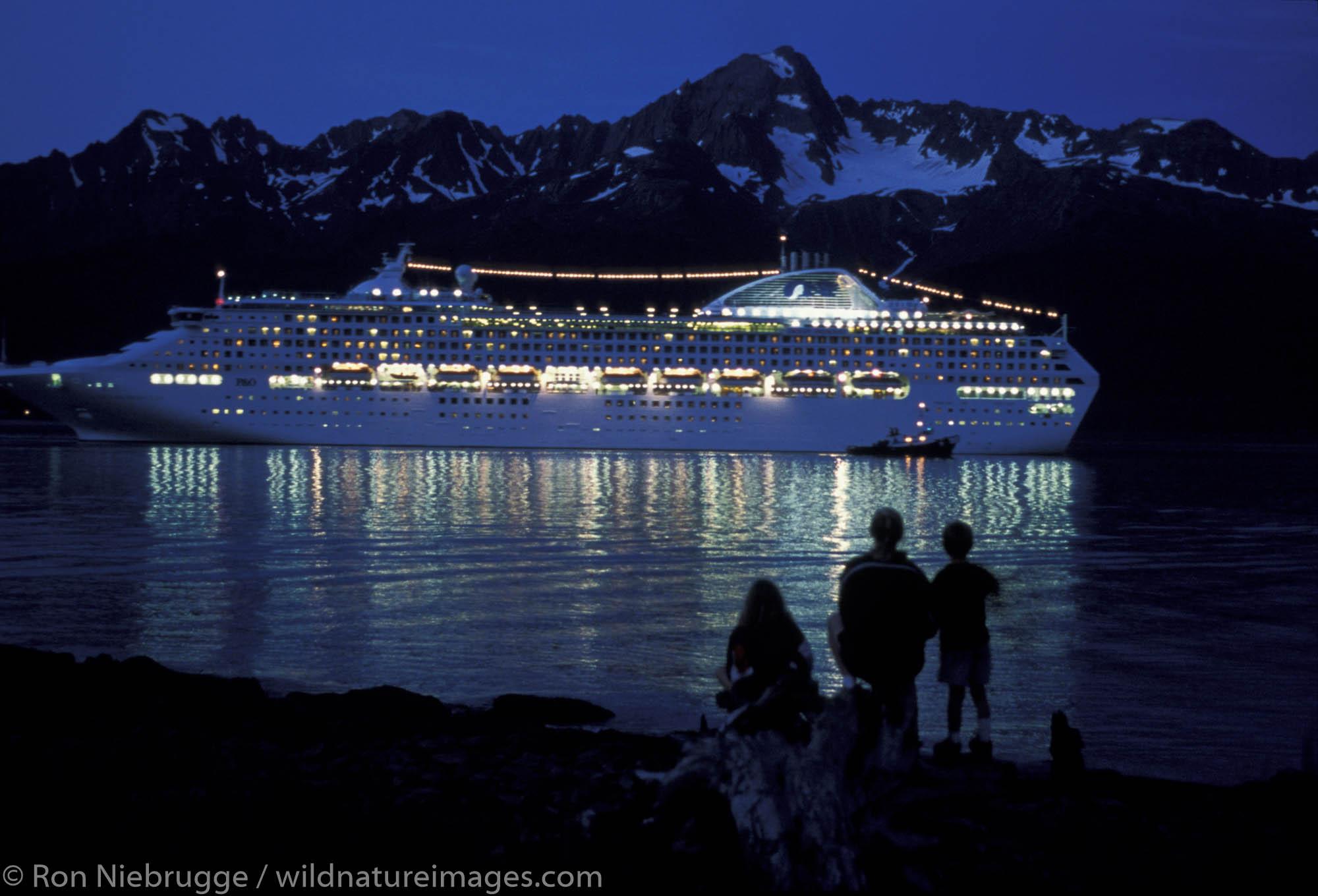 Ocean Princess, Princess Cruise Lines.  Kenai Peninsula, Seward, Alaska.