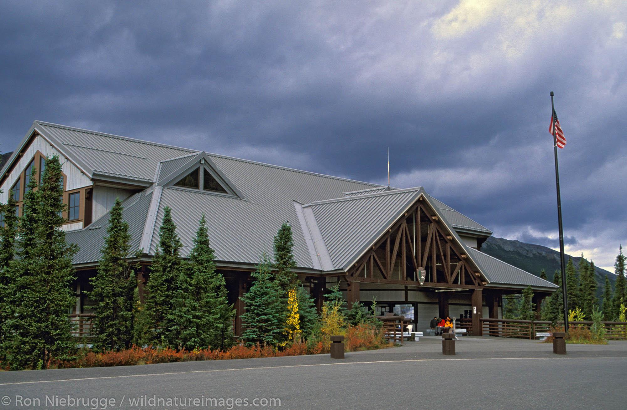 Visitor facilities and Denali National Park, Alaska.