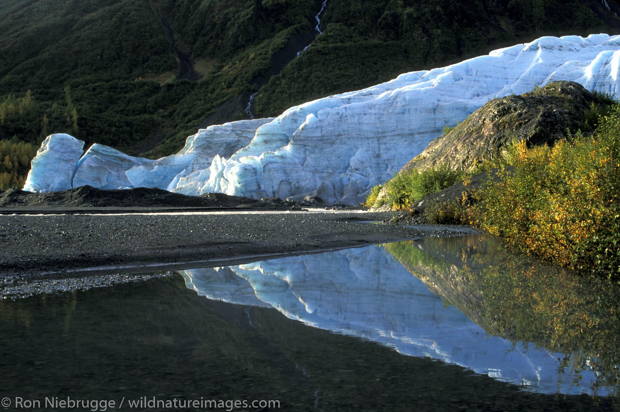 Exit Glacier.  Kenai Fjords National Park, Alaska.