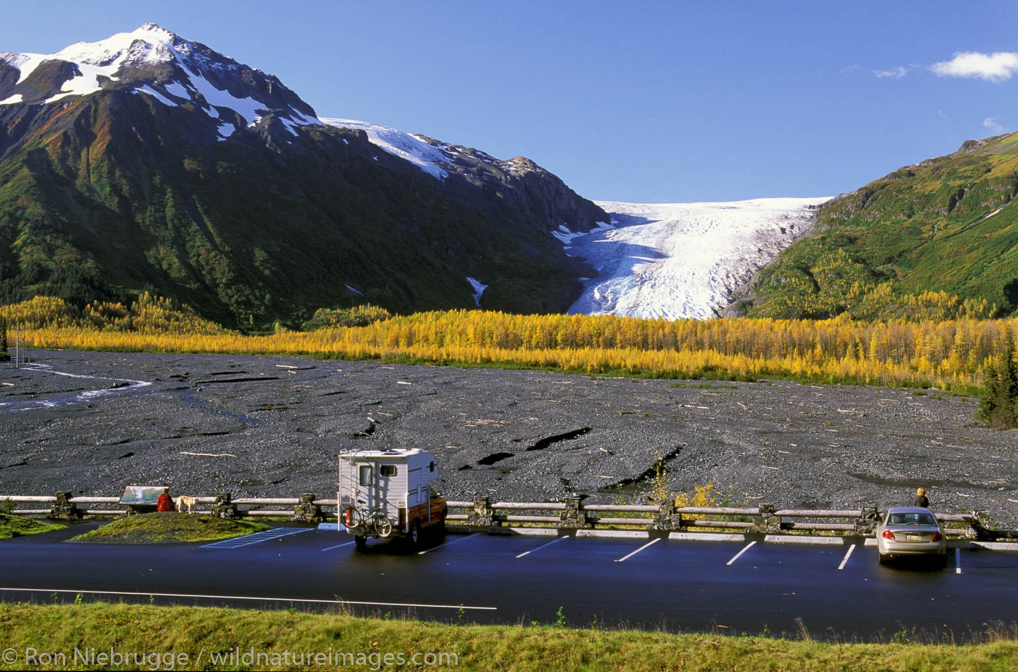 Exit Glacier Viewpoint.  Kenai Fjords National Park, Alaska.