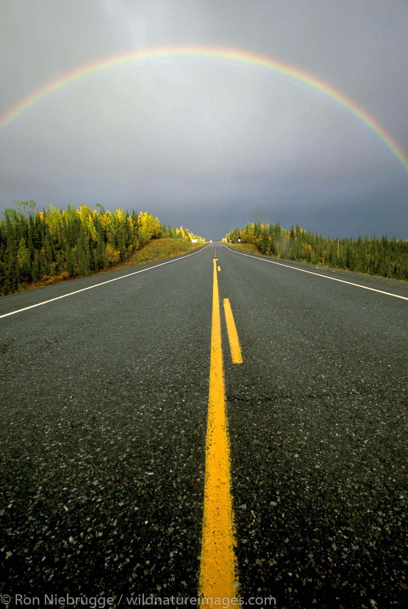 Rainbow over the Glen Highway.  Copper River Valley, Alaska.