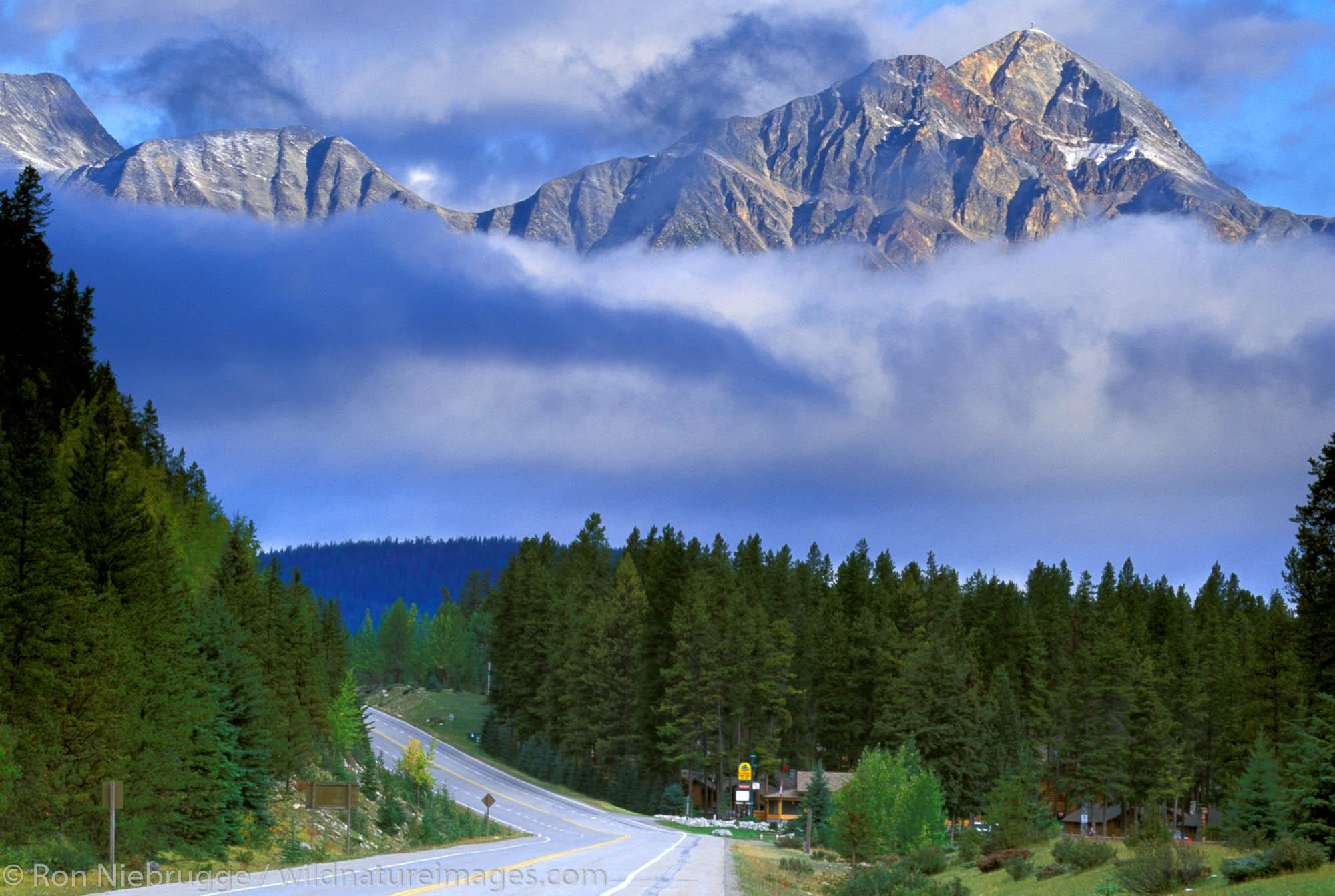 The Icefields Highway just outside of Jasper, Jasper National Park, Alberta, Canada.