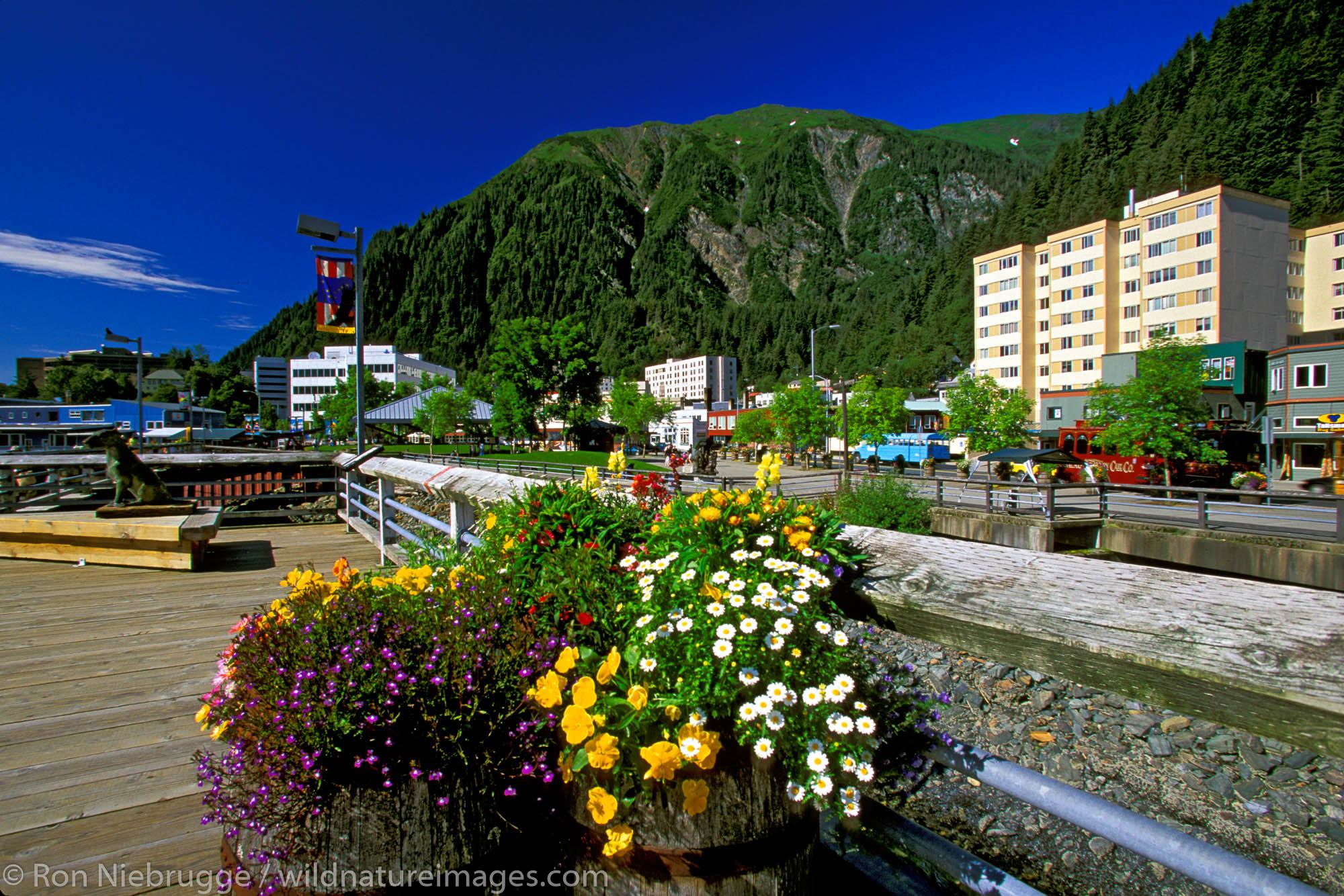 Downtown Juneau Cruise Ship Dock.  Juneau, Southeast, Alaska.