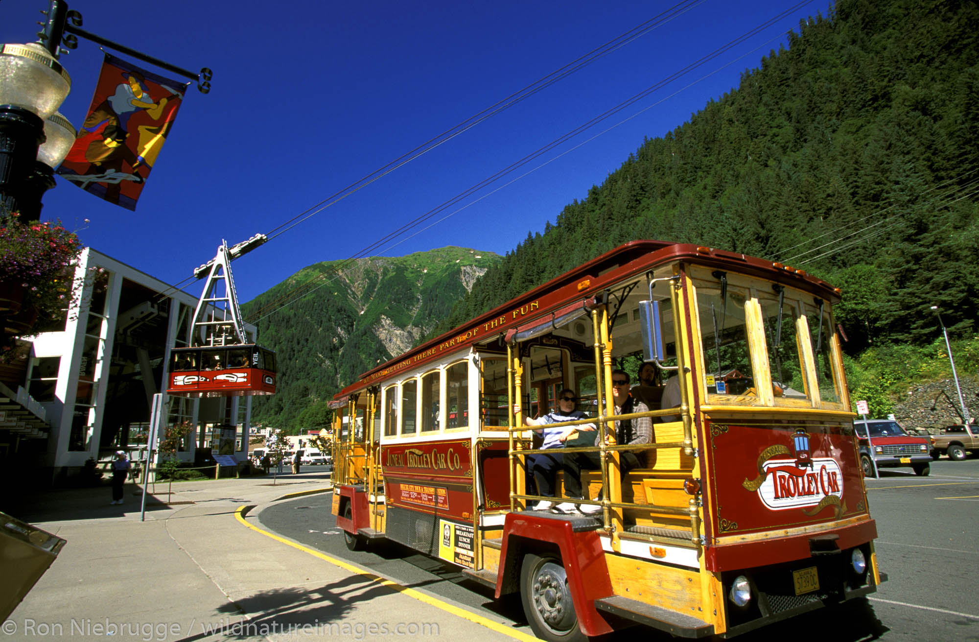 Juneau Trolly and Mt. Roberts Tram.  Juneau, Southeast, Alaska.