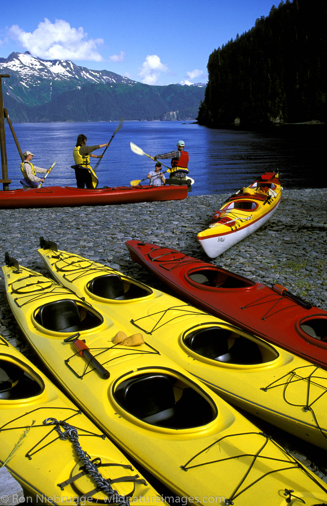 Kayak Lessons at Fox island,  near Kenai Fjords National Park,  Alaska.