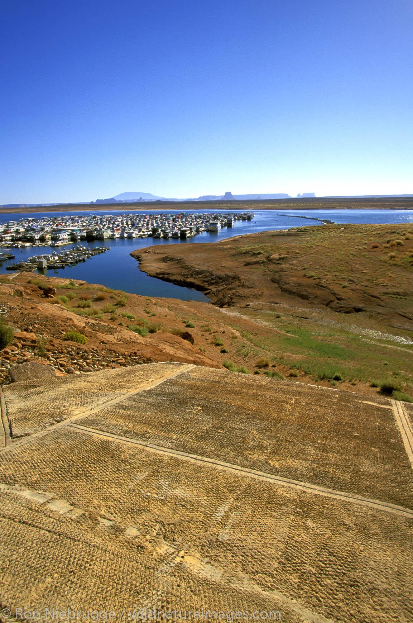 Boat Launch.  Lake Powell, Glen Canyon National Recreation Area.  Arizona, Utah.