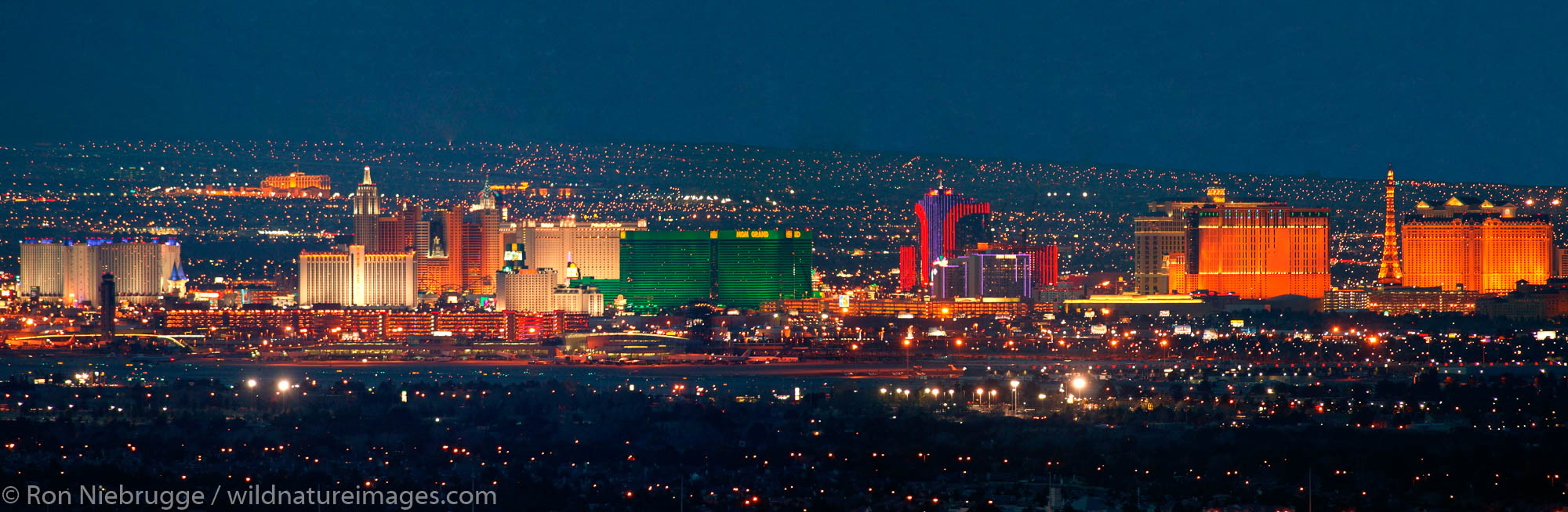 Las Vegas Strip at night, Nevada.