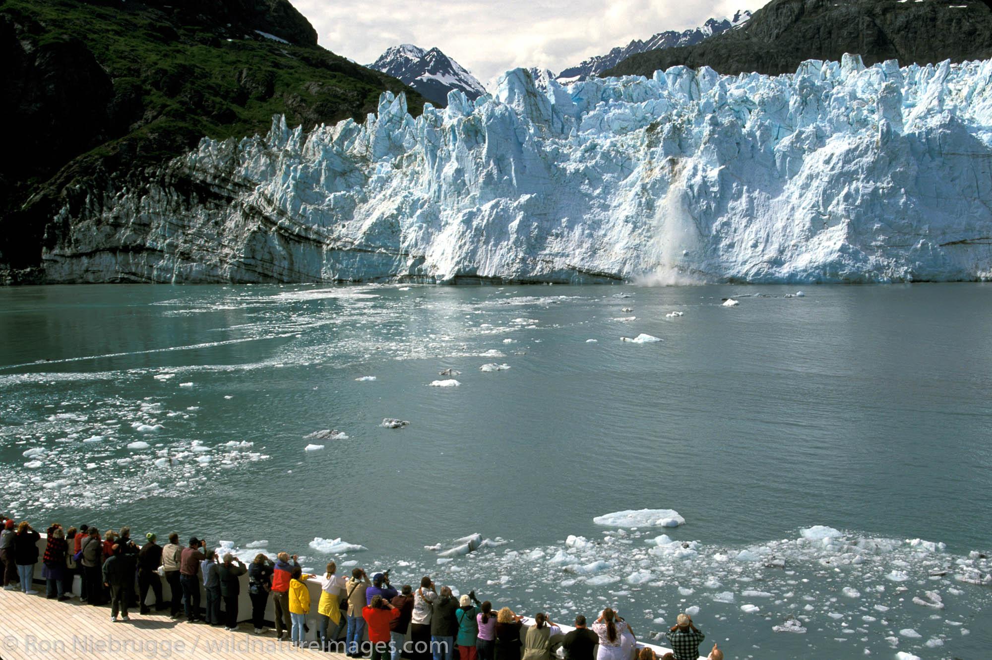 On board Holland-American Cruise Lines, Veendam.  Margerie Glacier.  Glacier Bay National Park, Alaska.