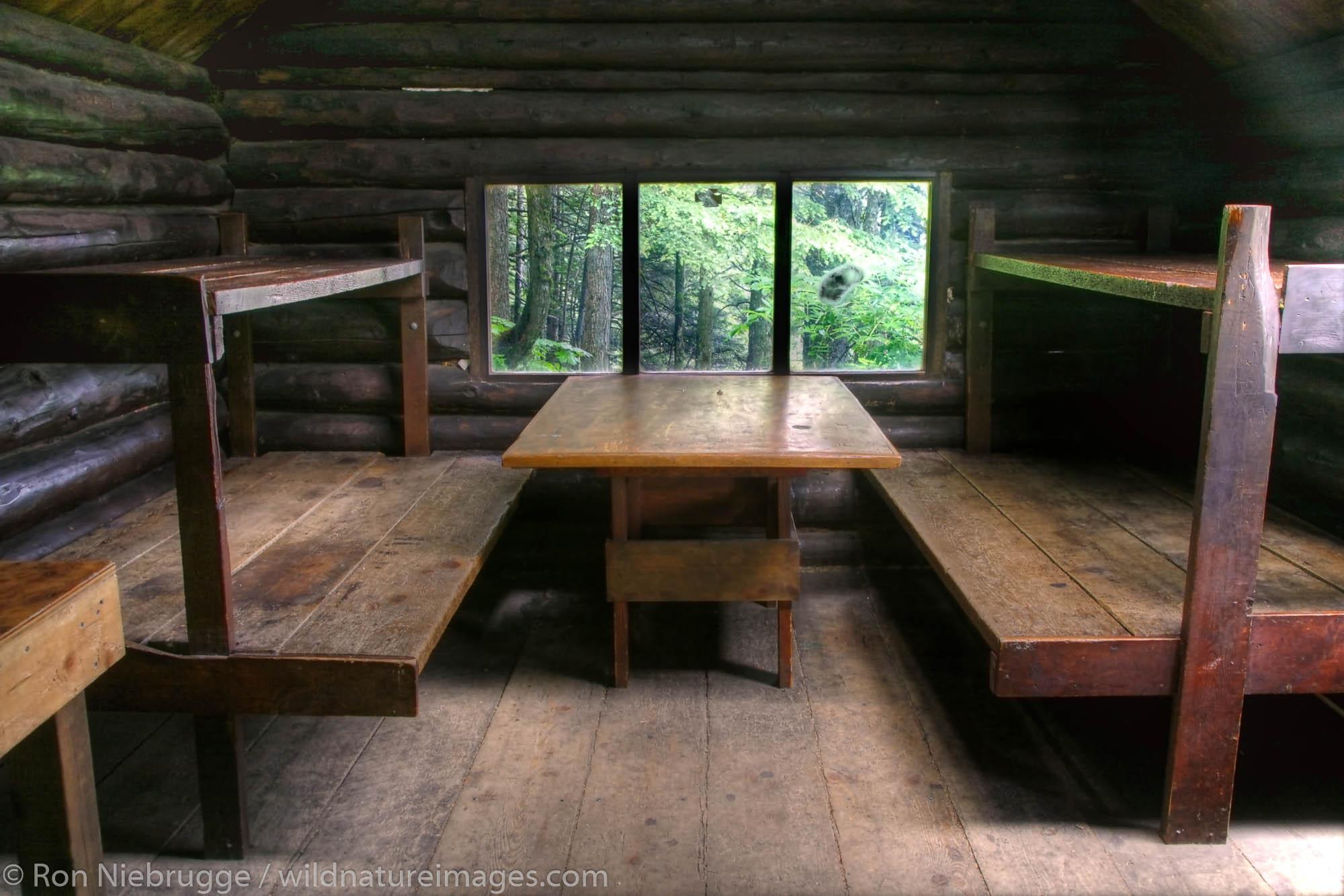 McKinley Trail Cabin, Chugach National Forest, near Cordova, Alaska.