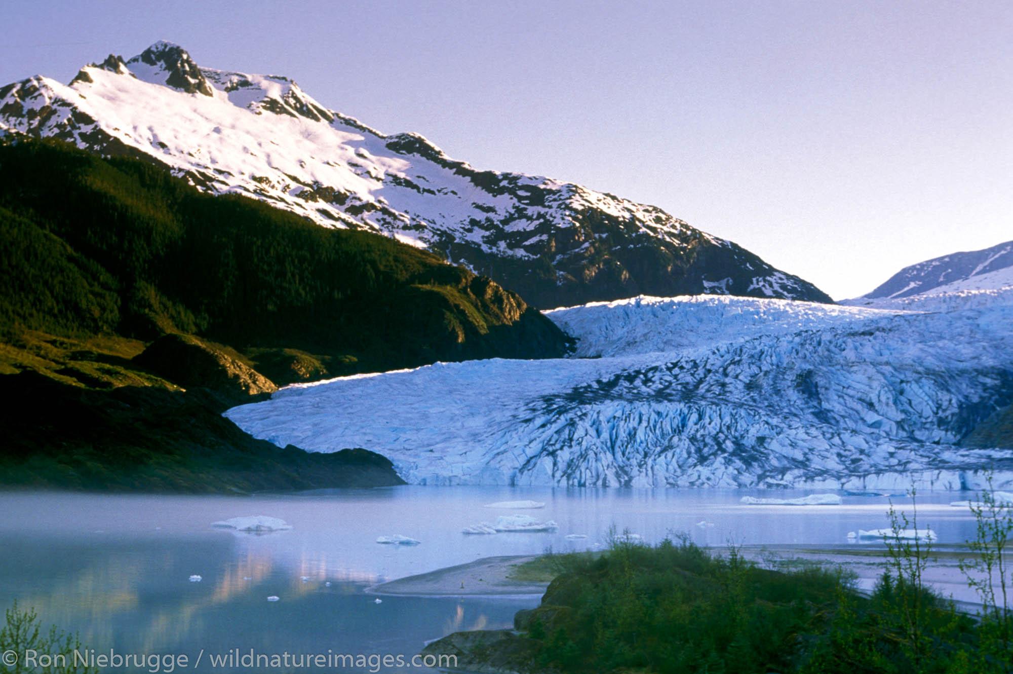 Mendenhall Glacier.  Juneau, Southeast, Alaska.