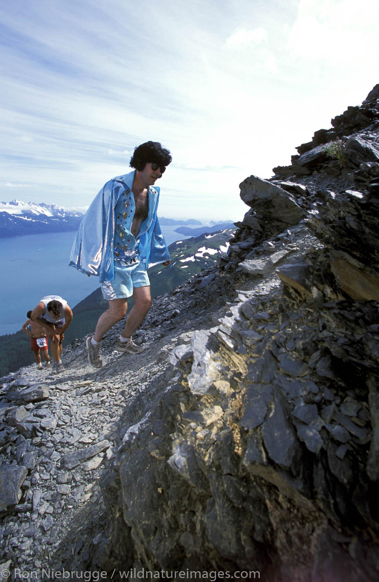 Seward annual 4th of July Mt. Marathon Race in 2002.  Seward,  Alaska.