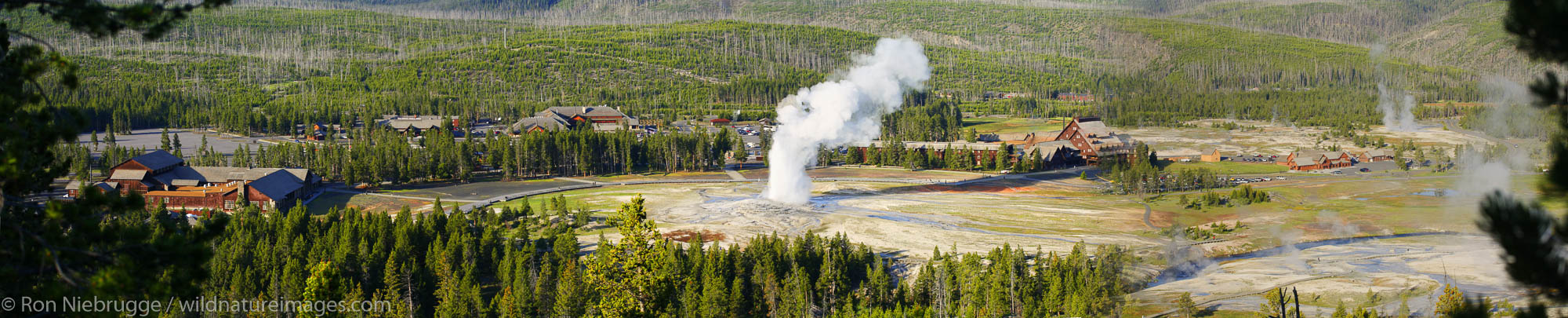 Old Faithful and the Upper Geyser Basin, Yellowstone National Park, Wyoming