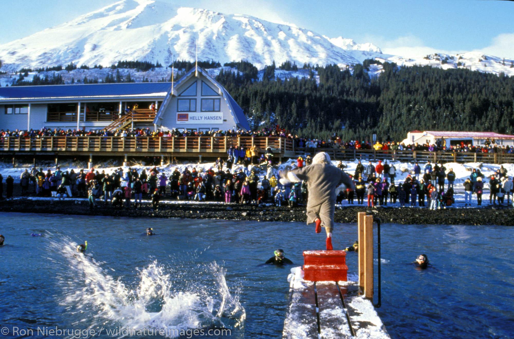 Polar Bear Jump-Off Festival.  Seward, Kenai Peninsula, Alaska.