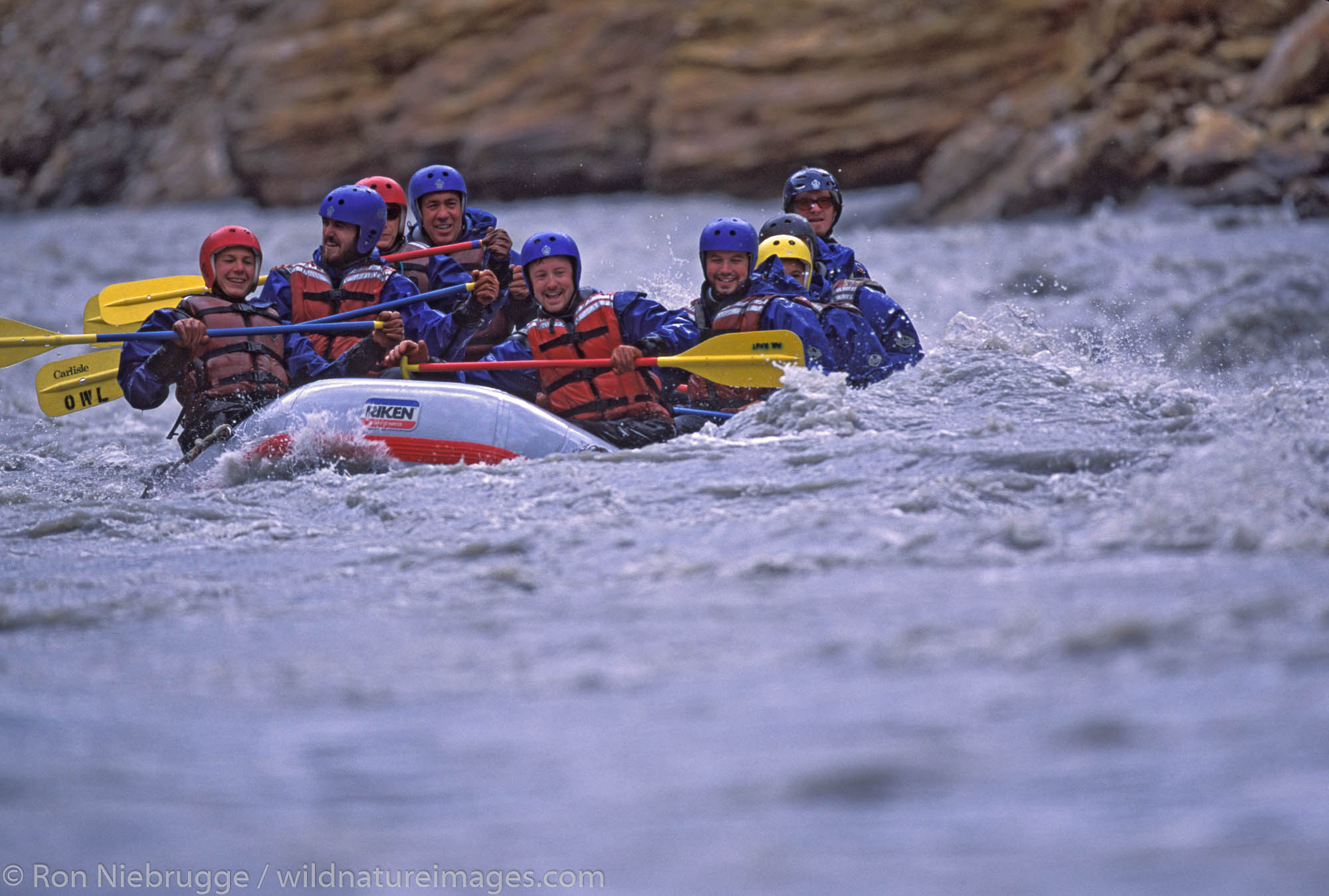 Rafting on the Nenana River, near Denali National Park, Alaska.
