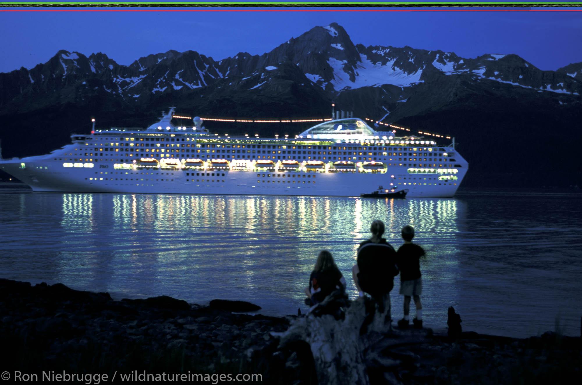 Princess Cruise Lines, Ocean Princess.  Resurrection Bay, Seward, Kenai Peninsula, Alaska.