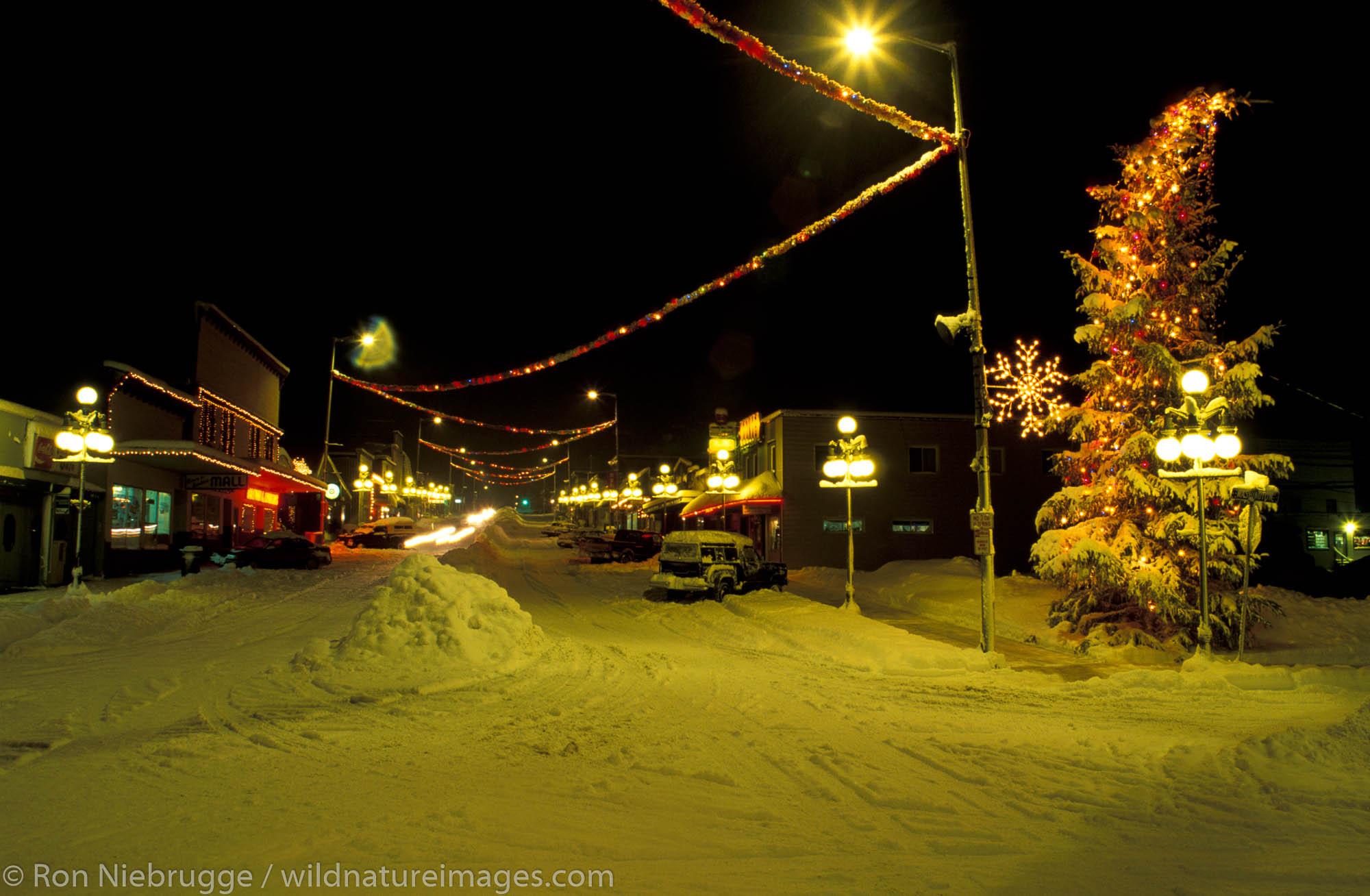 Downtown Seward during the winter, Alaska.