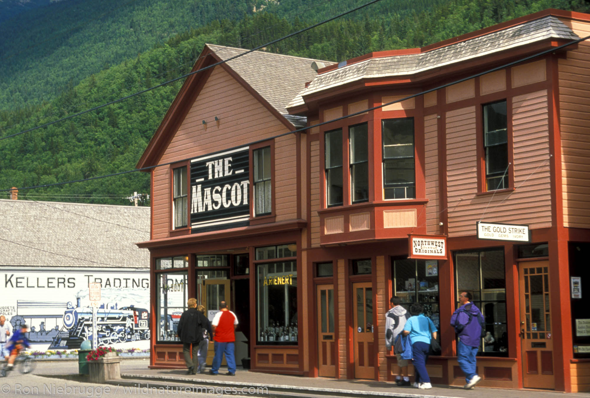 Old restored The Mascot Salon in the town of Skagway, Alaska.