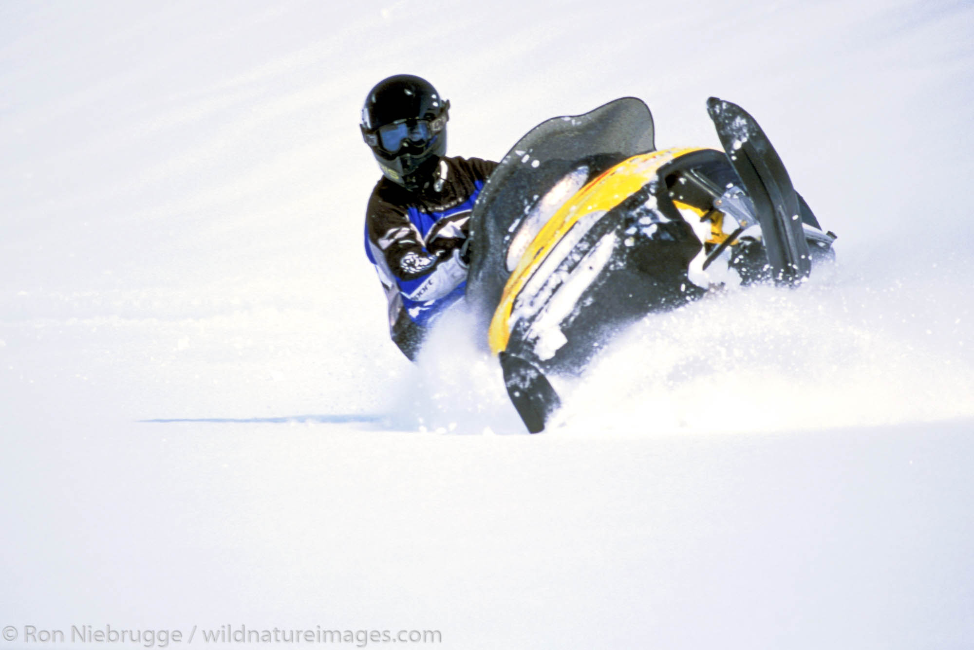 Snowmachine riding, Lost Lake, Chugach National Forest, Alaska. MR/PR