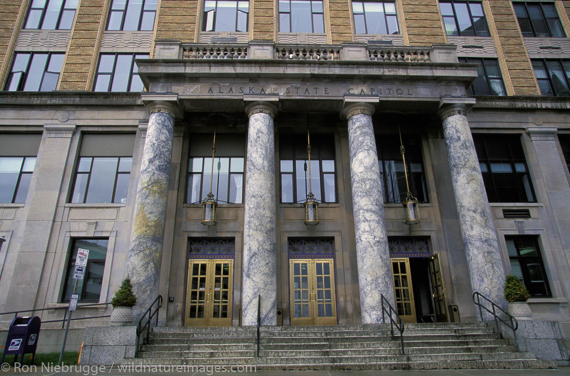 Alaska State Capital building, Juneau, Alaska.