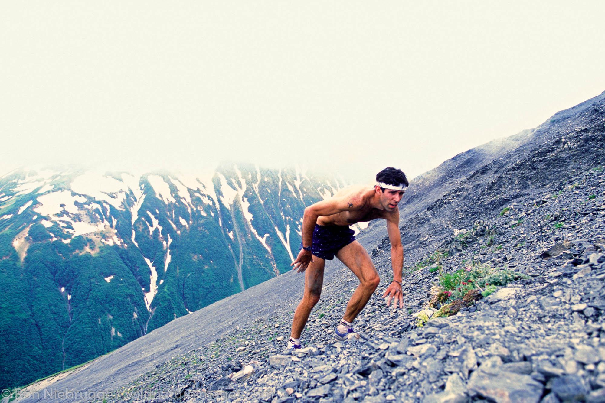 Brad Precosky during the Mt Marathon Race, Seward, Alaska.